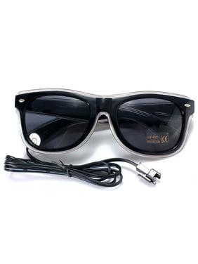 LED Sun Glasses Light Up Wire Fashion Neon Luminous Club Party Frame Eye Wear Sunglasses