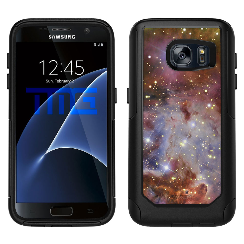 SKIN DECAL FOR OtterBox Commuter Samsung Galaxy S7 Case - Nebula Brown DECAL, NOT A CASE