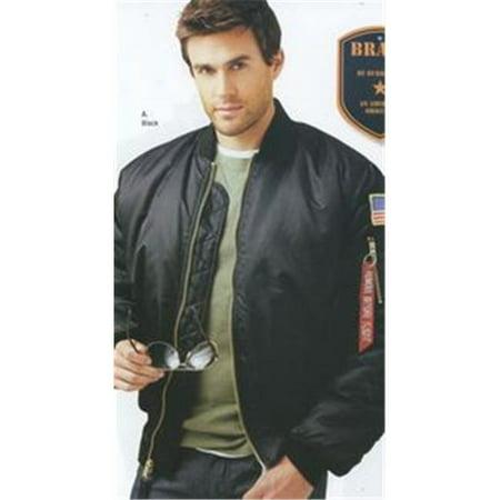 Burks Bay Ny600 4Xl Mens Ma 1 Nylon Flight Jacket   Extra Large