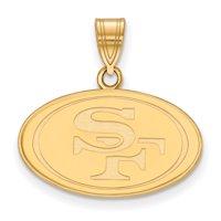 San Francisco 49ers Gold-Plated Medium Logo Pendant - No Size