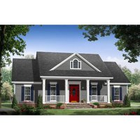 TheHouseDesigners-9185 Construction-Ready House Plan with Crawl Space Foundation (5 Printed Sets)