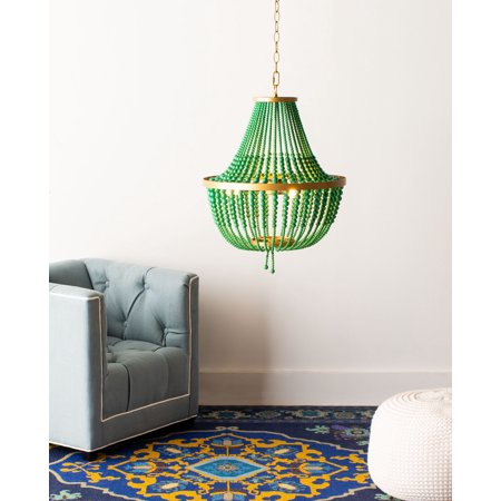 Safavieh Collection Inspired by Disney's live action Film Aladdin - Price Chandelier, Gold/Green Vienna Collection Chandelier