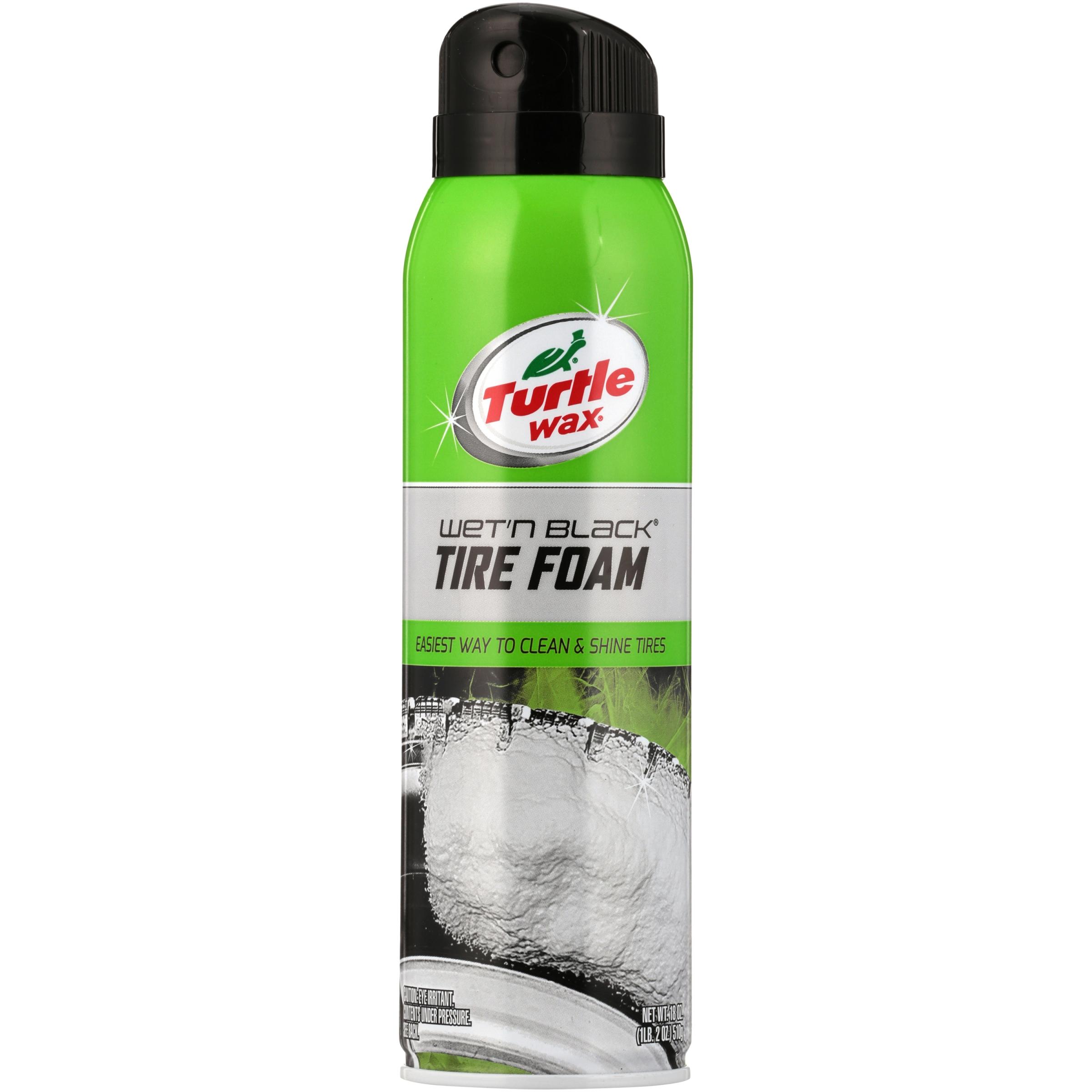 Turtle Wax T49R1 Wet'n Black Tire Foam 18-oz. Spray Bottle