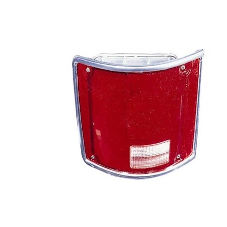 Go-Parts » 1975 - 1978 GMC C35 Tail Light Lens - Right (Passenger) Side - (Fleetside) 5968330 GM2801122 Replacement For GMC