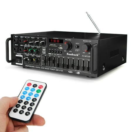 1000W/800W 110V EQ High Power Amplifier Home Theater HIFI Stereo Receiver Karaoke buetooth, MP3/USB/S D/AUX/AV/FM Radio For Phone PC TV MP3