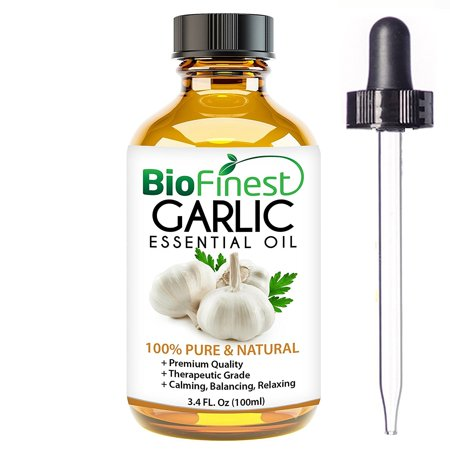 Biofinest Garlic Essential Oil - 100% Pure Organic Therapeutic Grade - Best For Aromatherapy & Massage - A Natural Healing Agent - FREE E-Book & Dropper (Best Oil For Perineal Massage)