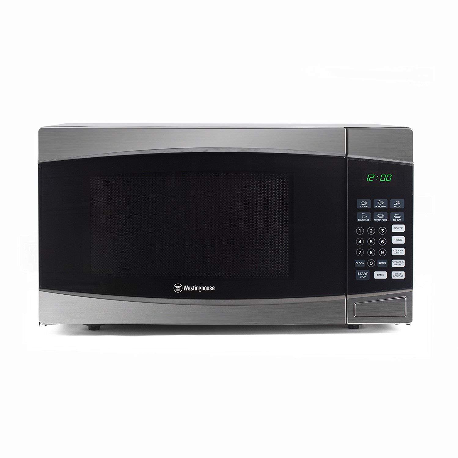 Counter Top Microwave Oven, 1.6 Cubic Feet, Stainless Steel Front, Black by W APPLIANCE LLC
