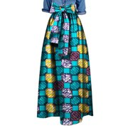Women African Printed Long Skirts Plus Size