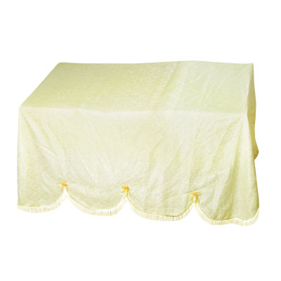 1.9 x 1.42m Lace Guipure Fringes Trim Piano Shade Cover by