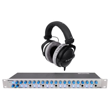 Beyerdynamic DT-770 Pro 250 Ohm +Presonus HP60 6 Channel Headphone Amplifier Amp