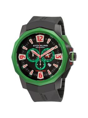 Stuhrling Original  Men's Admiral Swiss Quartz Chronograph Rubber Strap Watch
