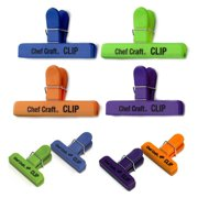 8 Pc Bag Clips Food Chip Assorted Size Multi Purpose Clothespin Mini Clip Crafts