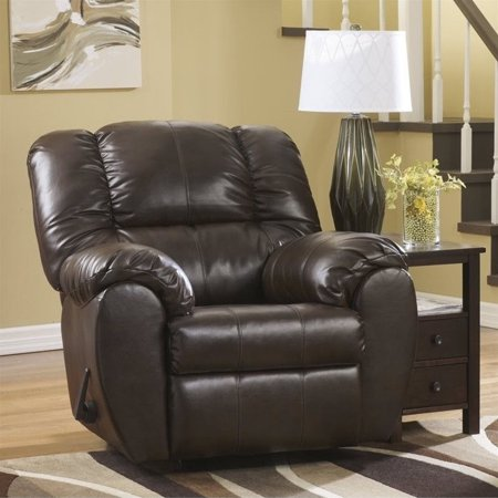 ashley dylan leather rocker recliner in espresso
