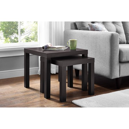 Mainstays Parsons Nesting Tables, Multiple Colors, 2-Piece