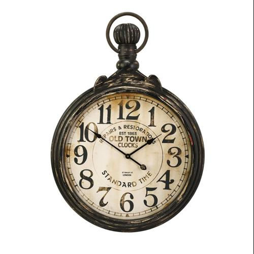 Old Fashioned Antique Oversized Pocket Watch Wall Clock 39""