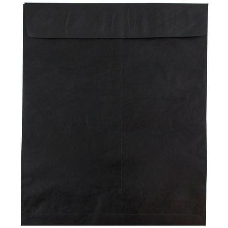 11 Open End Envelopes - JAM Paper Heavy Duty Tyvek Catalog Envelopes, Open End, 11 1/2