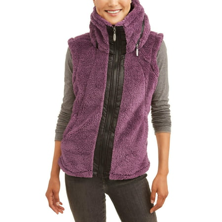 Climate Concepts Women's Fluffy Fleece Vest (Steampunk Vest Womens)