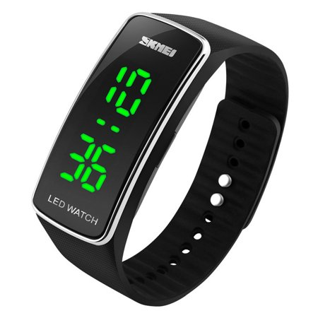 Outtop Men Womens Fashion Silicone LED Sport Bracelet Touch Digital Wrist Watch