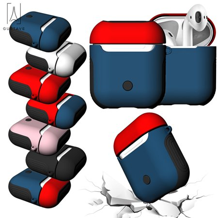 GustaveDesign Silicone AirPods Headset Protective Charging Case Airpod Protective Sleeve ShockProof Box Cover For Wireless Bluetooth Earphones