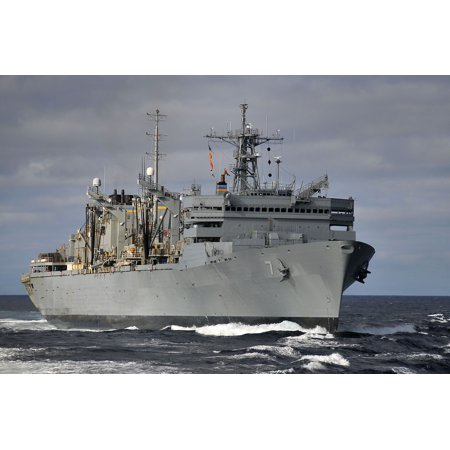 Military Sealift Command Ships - LAMINATED POSTER The Military Sealift Command fast-combat support ship USNS Rainier (T-AOE 7) performs maneuvers at s Poster Print 24 x 36