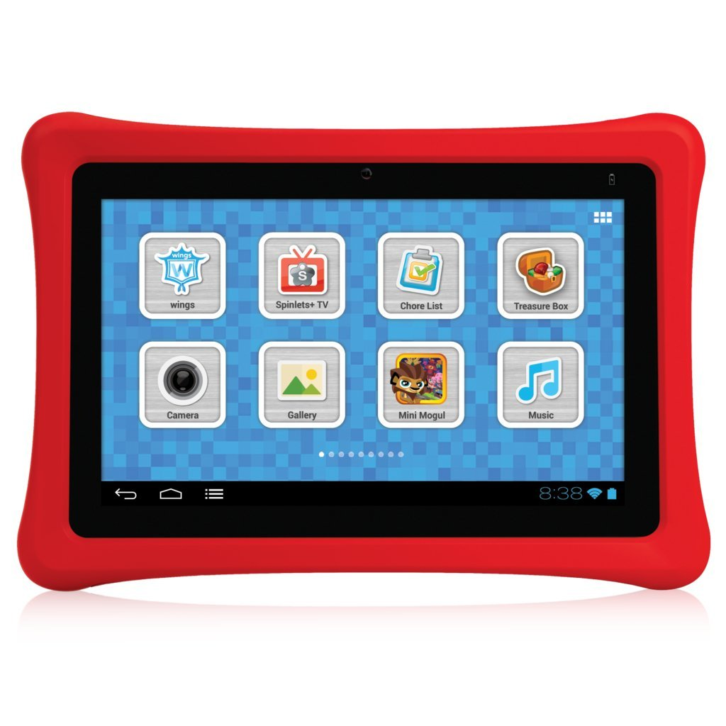 Nabi 7-Inch Nabi 2 8GB Tablet with 1.3 GHz Processor and Android 4.0, SNB02-NV7A, (Red Case) (Refurbished)
