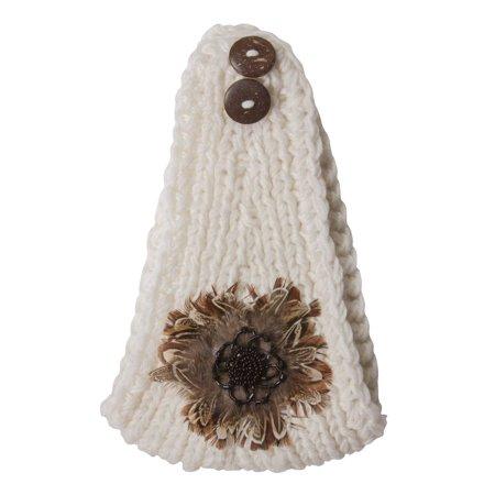 Crochet Knit Faux Feather Head Wrap - Purple - image 2 of 2