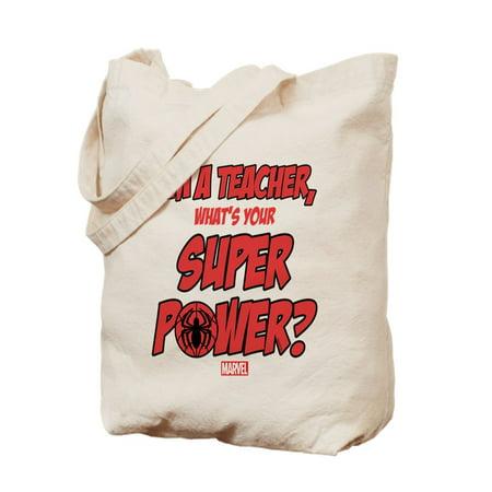 Cafepress Spider Man Teacher Natural Canvas Tote Bag Cloth Ping