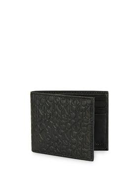Monogram-Embossed Leather Bi-Fold Wallet