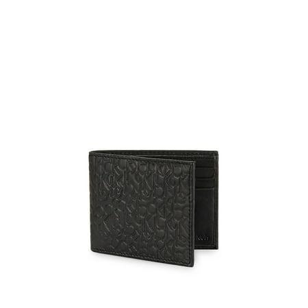 8d63b7e9934c Calvin Klein - Monogram-Embossed Leather Bi-Fold Wallet - Walmart.com