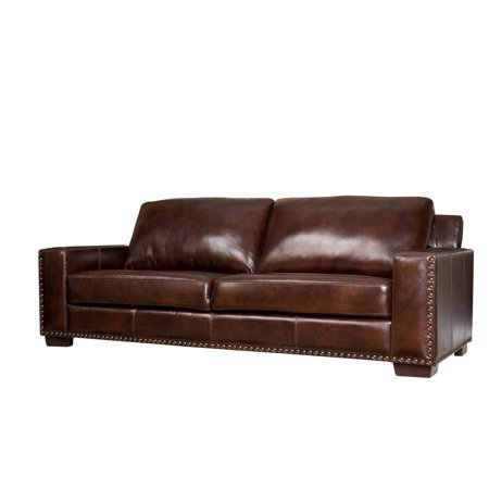 Devon & Claire Mallory Brown Leather Sofa