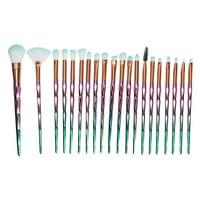 TKOOFN Diamond Makeup Brush Set, 20 Pcs