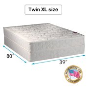 """Legacy Gentle Firm Twin XL size (39""""x80""""x8"""") Mattress and Box Spring Set - Fully Assembled, Good for your back, Superior Quality - One Sided - None Flip by Dream Solutions USA"""