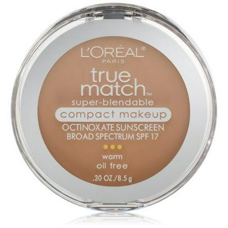 L'Oreal Paris True Match Super-Blendable Compact Makeup, Natural Beige, 0.3 oz.