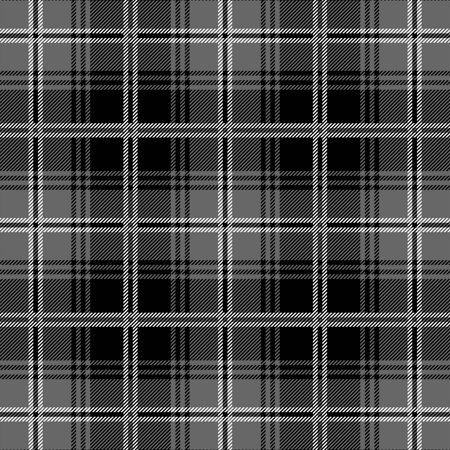 david textiles anti pill fleece tartan plaid blk grey fabric by the yard 60 wide. Black Bedroom Furniture Sets. Home Design Ideas