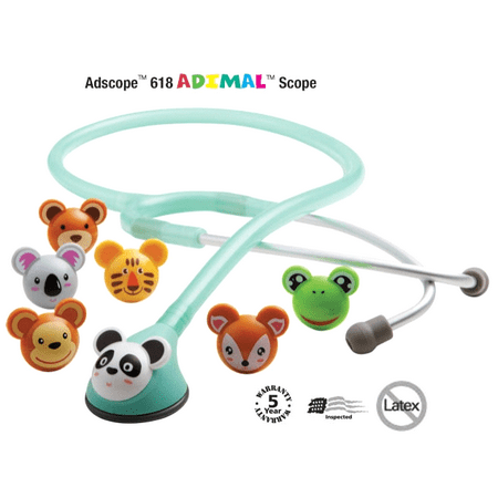 Infant Stethoscope - ADC Adscope 618 Adimal Infant Pediatric Professional Stethoscope w/ Animals