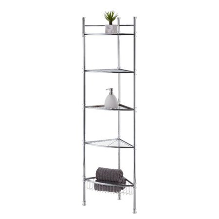 Best Living, Inc. Chrome 5-Tier Corner Shelf