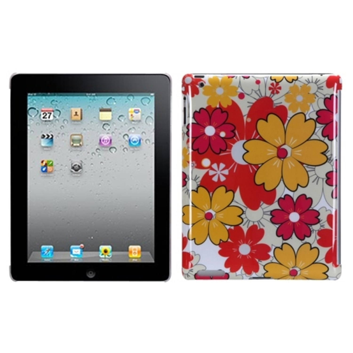 Insten Summer Bloom Back Case (with Package) for APPLE: iPad 2, The new iPad, iPad 4 (with Retina display)