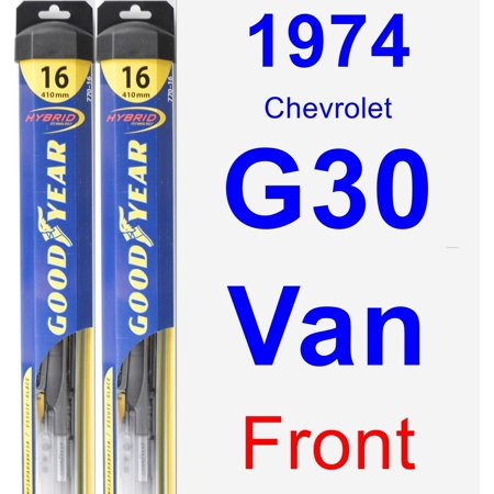 - 1974 Chevrolet G30 Van Wiper Blade Set/Kit (Front) (2 Blades) - Hybrid