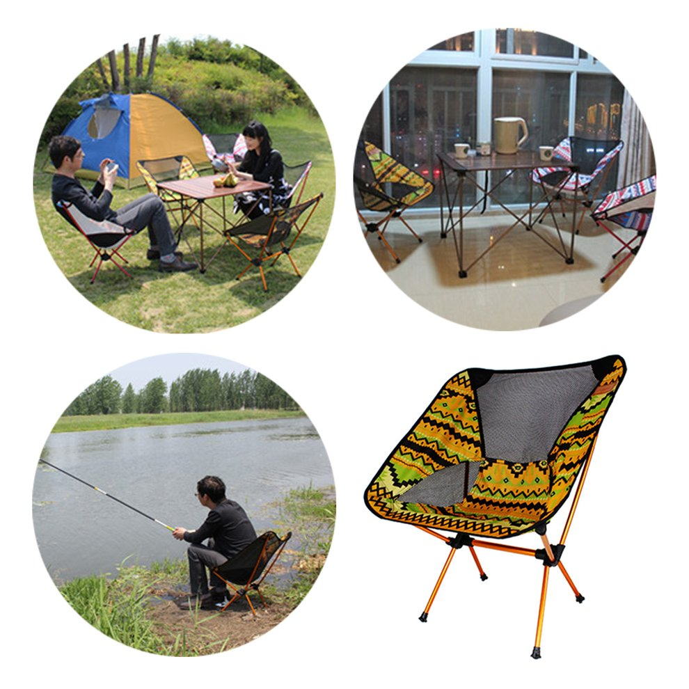 Aluminum Alloy Chair Lightweight Foldable Camping Fishing Travelling Chair