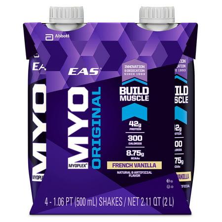 EAS Myoplex Original Ready-to-Drink Protein Shake, 42 grams of protein, French Vanilla, 16 fl oz