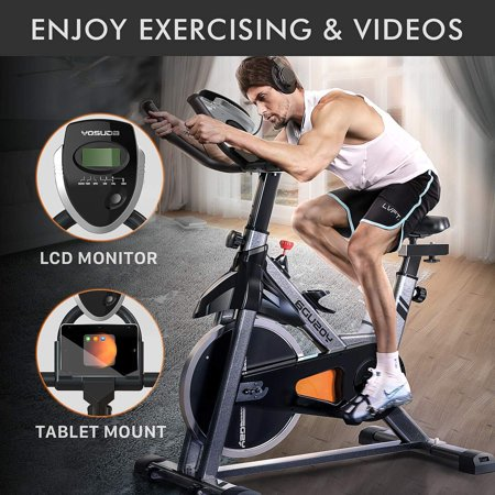 YOSUDA Indoor Cycling Bike Exercise Bike Fitness Bike Flywheel Bike Adjustable Exercise Bike Workout Bike Indoor Exercise Cycling Bike