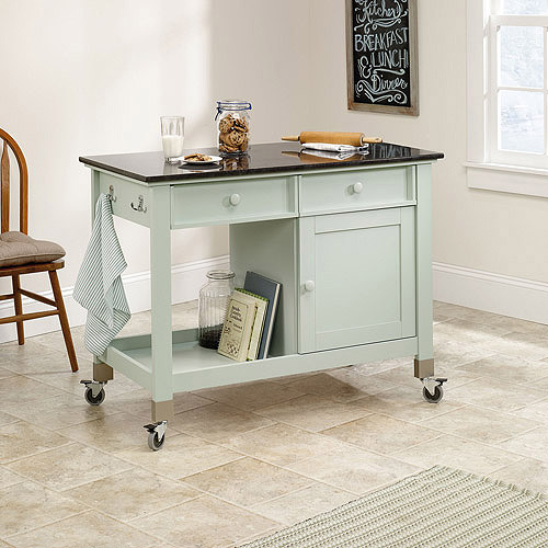 Sauder Original Cottage Mobile Kitchen Island Rainwater Walmartcom