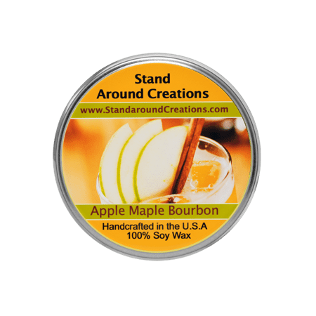 Natural Maple Stained (APPLE & MAPLE BOURBON TUREEN 3-OZ. ALL NATURAL SOY CANDLE)