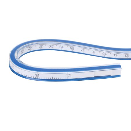 fashionhome Flexible Curve Ruler Spiral Engineering Drafting Drawing Measure Tool Soft Tape Measure Ruler - image 6 de 6
