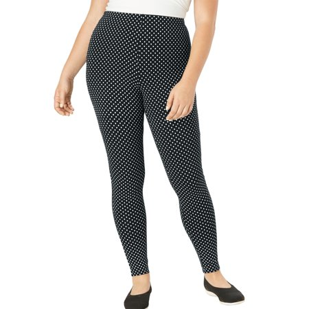 589a60580c6eb Woman Within - Plus Size Tall Stretch Cotton Printed Legging - Walmart.com