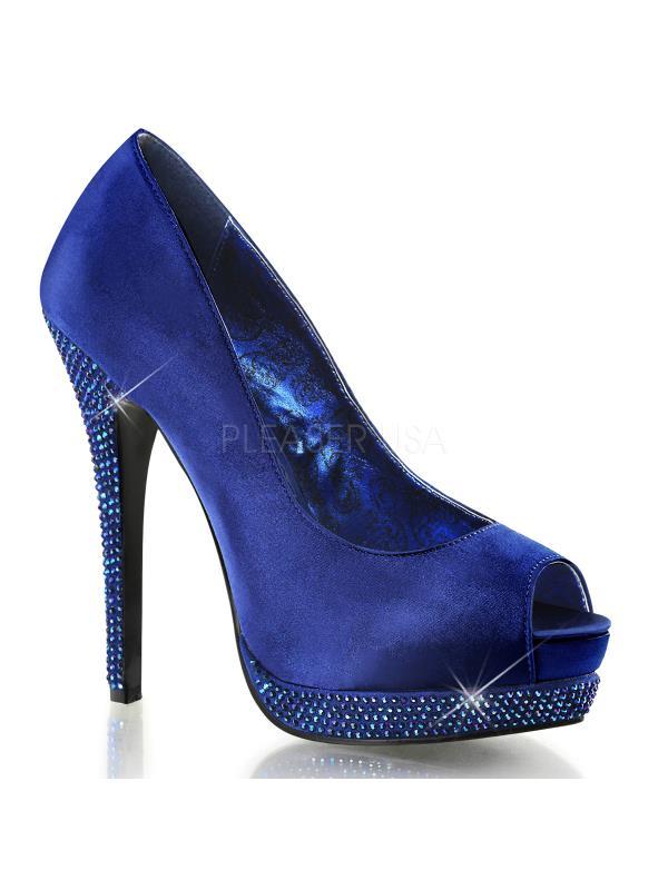 Bordello Shoes Bella Royal Blue Satin Size: 10