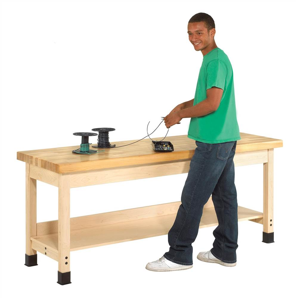 Wall Series Auxiliary Workbench (72 in. W x 32 in. H (202 lbs.) )