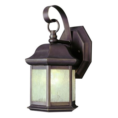 Trans Globe Lighting 4870 1-Light Up Lighting Outdoor Small Hexagon Wall Sconce from the Outdoor (Trans Globe Traditional Sconce)