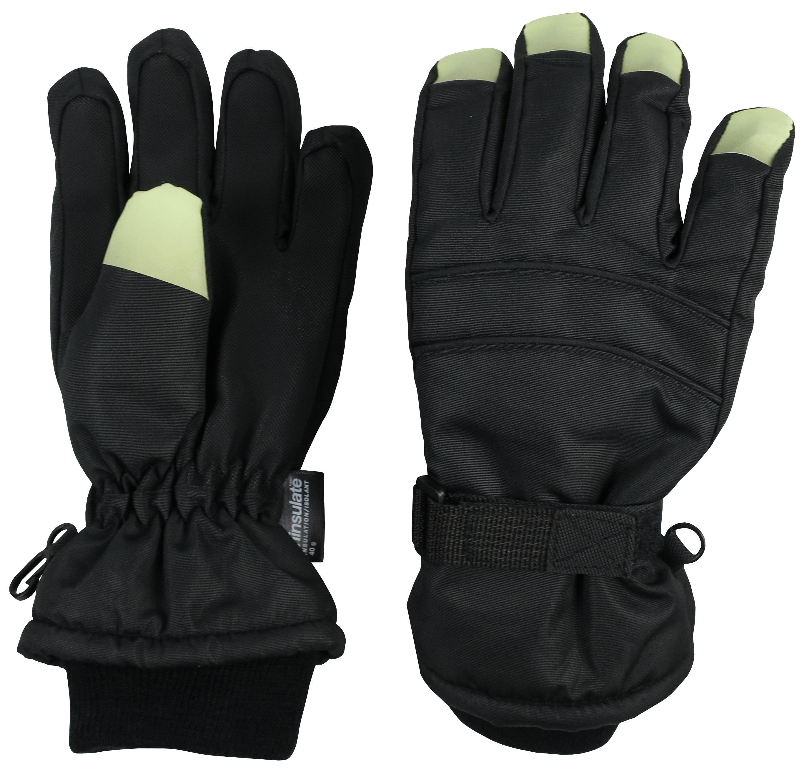NIce Caps Girls Waterproof Thinsulate Fashion Design Winter Snow Ski Gloves