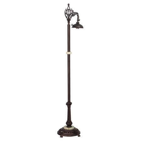 60 in bridge arm floor lamp base in mahogany bronze. Black Bedroom Furniture Sets. Home Design Ideas